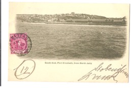 SOUTH AFRICA - PORT ELIZABETH - SOUTH END FROM NORTH JETTY - STAMP - MAILED TO ITALY 1902 ( 2773 ) - Afrique Du Sud