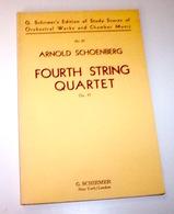 Musica Spartiti Schoenberg - Fourth String Quartet Op. 37 - Non Classificati