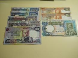 Lot 8 Banknotes Portuguese Angola - Mezclas - Billetes