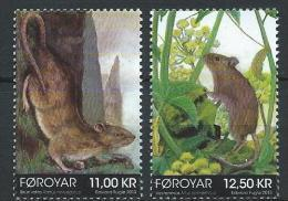 Féroé 2013 N°781/782 Neufs Rats Et Souris - Faroe Islands