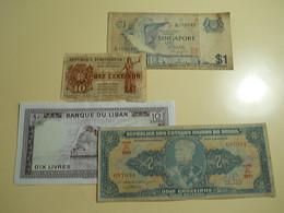 Lot 4 Banknotes - Monete & Banconote