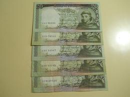 Lot 5 Banknotes 20 Escudos 1964 Portugal - Monete & Banconote