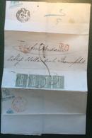 Regno D' Italia 1863 Lettera CIRCULARE RRR ! ANCONA 1865 > Amsterdam Netherlands (cover Printed Matter Italy Postage Due - Marcophilia