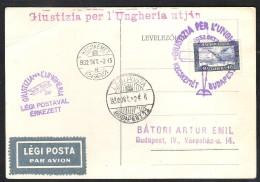 HUNGARY Special Flight 1932 KECSKEMET-BUDAPEST - Airmail