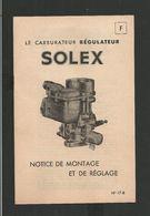 SOLEX Notice N° 17B - Vieux Papiers