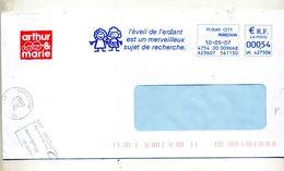 Lettre Flamme Ema Plouay Eveil Enfant - Marcophilie (Lettres)