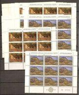 1977 Jugoslavia Yugoslavia EUROPA CEPT EUROPE 117 Serie Di 2v. In 26 Minifogli Di 9v. MNH** Minisheets - Europa-CEPT