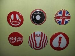 LOT 6 BADGES COCA-COLA - Coca-Cola