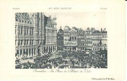 Bruxelles - Brussel - La Place De L'Hôtel De Ville - Marktpleinen, Pleinen