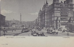 ANGLETERRE LIVERPOOL LIME DTREET L Et N. W. HOTEL  BELLE CARTE RARE !!! - Liverpool