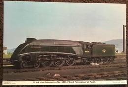 A4 Class Locomotive No. 60034 'Lord Faringdon' At Perth - Trains