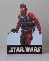 - STAR WARS - Movie Card's - LUKE SKYWALKER - Carte Publicitaire Découpée - - Cinema Advertisement