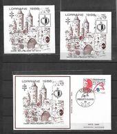 2  Blocs    CNEP N° 9 - Neuf - Salon Philatélique De Metz LORRAINE 1988 FDC - CNEP