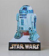 - STAR WARS - Movie Card's - R2-D2 - Carte Publicitaire Découpée - - Cinema Advertisement