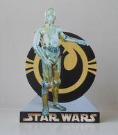 - STAR WARS - Movie Card's - C-3PO - Carte Publicitaire Découpée - - Cinema Advertisement