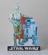 - STAR WARS - Movie Card's - R2-D2 & C-3PO - Carte Publicitaire Découpée - - Cinema Advertisement