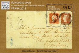 Czech Republic - 2018 - The Bombay Cover - Praga 2018 World Stamp Exhibition - Mint Souvenir Sheet - Tchéquie