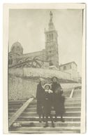 Cpa Carte-photo Escaliers De Notre Dame De La Garde - Notre-Dame De La Garde, Ascenseur