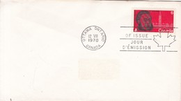 FDC CANADA OTTAWA CIRCA 1970. SIR OLIVER MOWAT STAMP- BLEUP - First Day Covers