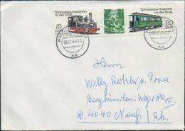 DDR 1983 Michel Nr. 2792, 2793 Auf Briefumschlag Von Magdeburg Nach Neuss, Schmalspurbahnen - DDR
