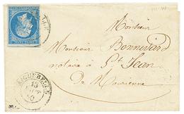 """270 """"AIGUEBELLE"""" : 1860 FRANCE 20c(n°14) TTB Margé Obl. Cachet Sarde AIGUEBELLE Sur Lettre. TTB. - Publishers"""