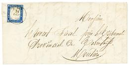 """272 """"BOZEL"""" : 1858 SARDAIGNE 20c TTB Margé Obl. BOZEL Sur Lettre Pour MOUTIERS. RARE. Superbe. - Publishers"""