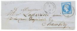 275 5 JANVIER 1861 LES ECHELLES : 1861 FRANCE 20c(n°14) Pd Obl. Cachet Sarde LES ECHELLES Sur Lettre. Trés Rare à Cette  - Publishers