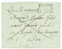 277 1815 P.99.P GEX Sur Lettre Avec Texte Pour PARIS. Rare. Superbe. - Publishers