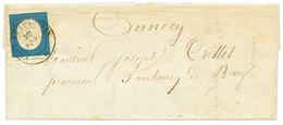 280 PONT DE BEAUVOISIN : 1854 20c(trace De Pli Imperceptible) Obl. PONT BEAUVOISIN, Pour ANNECY. TB. - Publishers