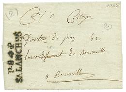 """283 An 11 P.84.P SALANCHES (frappe Empatée) Avec Texte De """"COMBLOUX"""" . TB. - Publishers"""