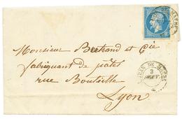 """286 """"ST JEAN DE MAURIENNE"""" : 1860 FRANCE 20c(n°14) TB Margé Obl. Cachet Sarde ST JEAN DE MAUR. Sur Lettre. Rare. TTB. - Publishers"""