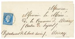 """287 """"RUFFIEUX"""" : 1860 FRANCE 20c(n°14) Obl. Cachet Sarde RUFFIEUX Sur Lettre. GRANDE RARETE. TTB. - Publishers"""