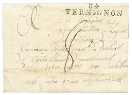 288 An 2 84 THERMIGNON Sur Lettre Avec Texte De L' ARMEE DES ALPES. Rare. TB. - Publishers