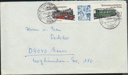 DDR 1984 Michel Nr. 2864, 2867 Auf Briefumschlag Nach Neuss, Schmalspurbahnen - DDR