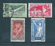 France Timbres De 1924  Jeux Olympiques N°183 A 186  Oblitérés Cote 20€ - France