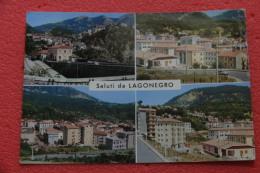 Lagonegro Potenza Vedutine 1966 Con Timbro Sul Retro Della Sez. Guida 1 - Unclassified