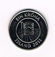 &  IJSLAND  1 KRONA  2011 - Islande