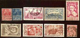 JOLI LOT TIMBRES Oblitérés Des ANNEES 1925 à 1936 Cote + 20 Euro - Oblitérés