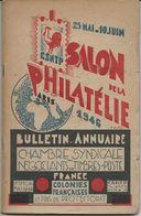 BULLETIN ANNUAIRE DE LA CSNTP - SALON DE LA PHILATELIE 1946 - - Expositions Philatéliques