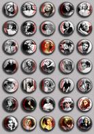 Ingrid Bergman Movie Film Fan ART BADGE BUTTON PIN SET 3  (1inch/25mm Diameter) 35 DIFF - Kino