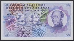 Switzerland 20 Franken 05.01.1970 UNC - Switzerland
