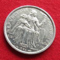 French Polynesia 2 Francs 1984 KM# 10  Polynesie Polinesia - French Polynesia