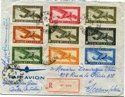 INDOCHINE LETTRE RECOMMANDEE PAR AVION DEPART CANTHO 6-7-48 COCHINCHINE POUR LA FRANCE - Lettres & Documents