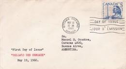 DOLLARD DES ORMEAUX. FDC CANADA OTTAWA CIRCA 1960. - BLEUP - 1952-1960