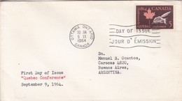 QUEBEQ CONFERENCE. FDC CANADA OTTAWA CIRCA 1964. - BLEUP - 1952-1960