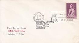 ROYAL VISIT. FDC CANADA OTTAWA CIRCA 1964. - BLEUP - 1952-1960