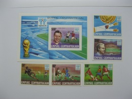 Central Africa 1978  World Cup Football   SC#303-307.308 Imperf - Central African Republic