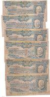 6 BILHET  -50  ESCUDOS ~ANGOLA   - AMERICO TOMAS - Monete & Banconote
