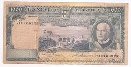 3 BILHET  -1000 ESCUDOS -ANGOLA   - AMERICO TOMAS - Monete & Banconote