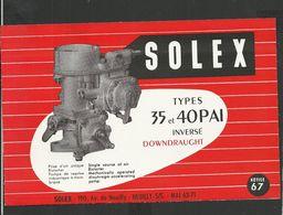 SOLEX Notice N° 67 - Vieux Papiers